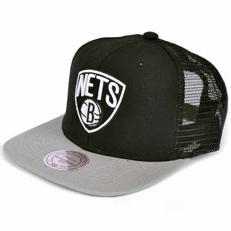 Boné Brooklyn Nets Mitchell e Ness Trucker