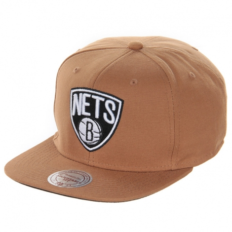 Boné Brooklyn Nets Mitchell e Ness - Marrom