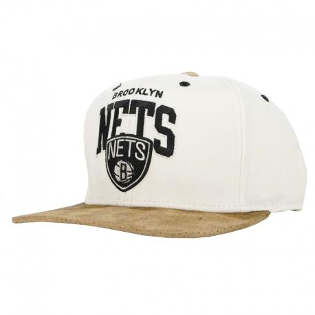 Boné Brooklyn Nets Mitchell e Ness - Branco