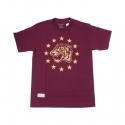 Camiseta Primitive Alley Cat - Vinho