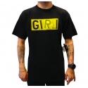 Camiseta Girl Skateboards Logo amarela - Preta