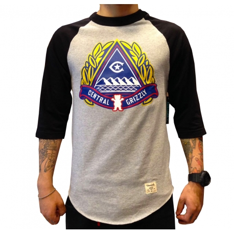Camiseta 3/4 Grizzly x Central Pyramid