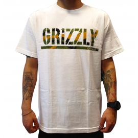 Camiseta Grizzly Stamp Branch Camo - Branco