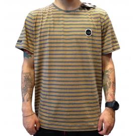 Camiseta Globe Fio Tinto Listrada - Cinza