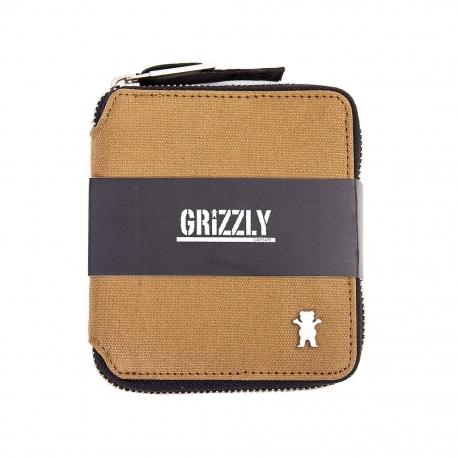 Carteira Grizzly The Rockies com zíper - Marrom