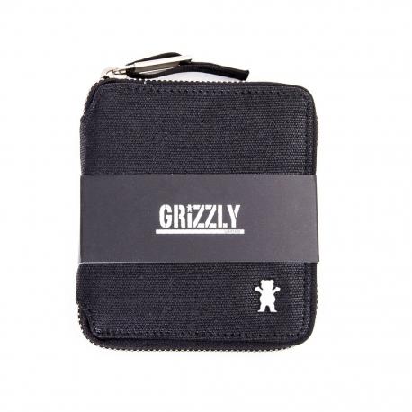 Carteira Grizzly The Rockies com zíper - Preta