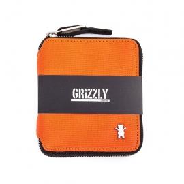 Carteira Grizzly The Rockies com zíper - Laranja