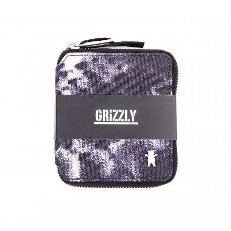 Carteira Grizzly The Rockies New Wave com zíper - Preta