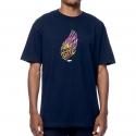 Camiseta Primitive Smoke Color - Azul