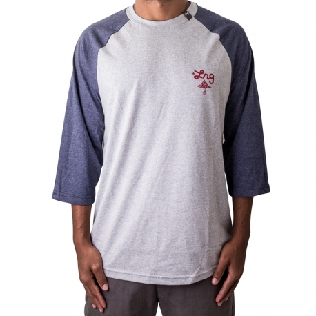 Camiseta LRG 3/4 Research Collect - Cinza