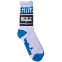 Meia Grizzly Stamp - Azul / Branca