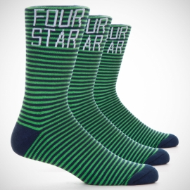 Meia Four Star Stripe - Verde