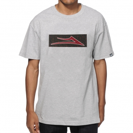 Camiseta Lakai Paisley Standart - Cinza