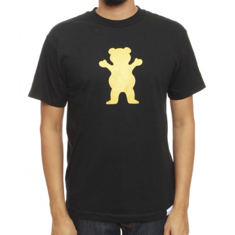 Camiseta Grizzly Golden Bear - Preta