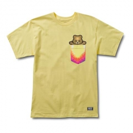 Camiseta Grizzly Pudwill Pro Bear Pocket Yellow
