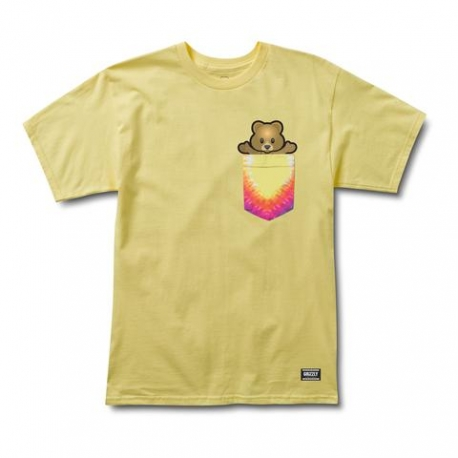 Camiseta Pudwill Pro Bear Pocket - Amarela