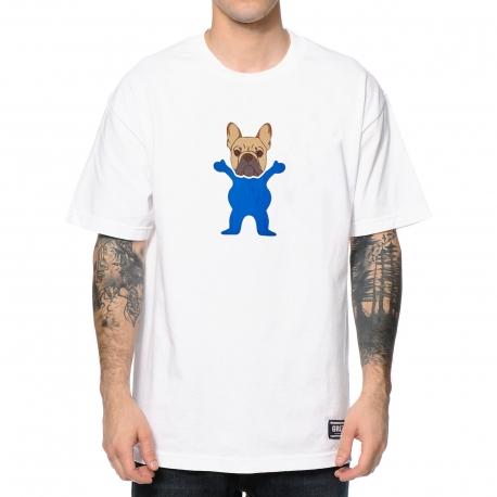 Camiseta Grizzly Frenchie - Branca