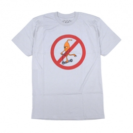 Camiseta Toy Machine Scooter Prohibited - Cinza