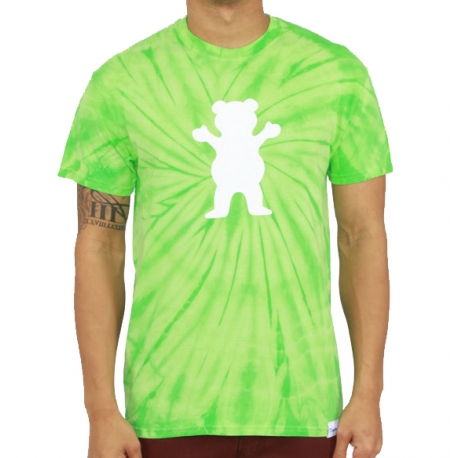 Camiseta Grizzly OG Bear Tie Dye - Verde
