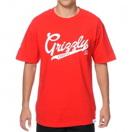 Camiseta Grizzly Stadium Script - Vermelha