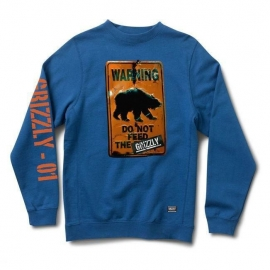 Moletom Grizzly Warning - Azul