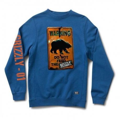 Moletom Grizzly Do Not Feed - Azul