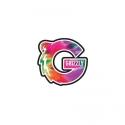 Adesivo Grizzly G Logo Tie Dye - (9,5cm x 10cm)