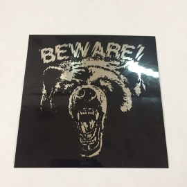 Adesivo Grizzly Beware Espelhado