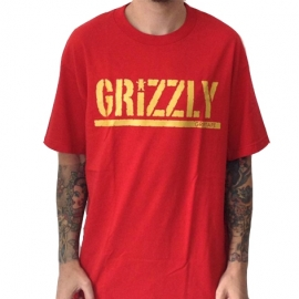 Camiseta Grizzly T-Puds Stamp Bright Red