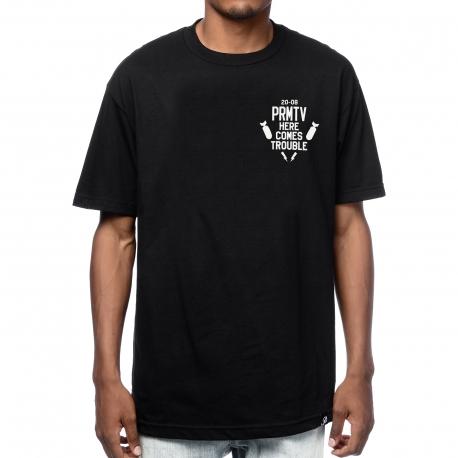 Camiseta Primitive Here Comes Trouble - Preta