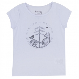 Camiseta Element Feminina Fox Tree - Branca
