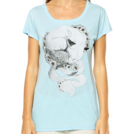 Camiseta Feminina Element Fox Dreams - Azul