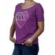 Camiseta Feminina Vans - Roxa