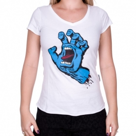 Camiseta Feminina Santa Cruz Screaming - Branca
