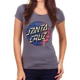Camiseta Feminina Santa Cruz wall - Chumbo