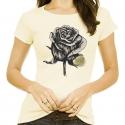Camiseta Santa Cruz Feminina Baby Look Rose - Bege