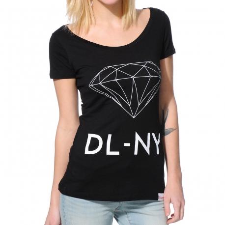 Camiseta Feminina Diamond Scoop NY - Preta