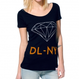 Camiseta Feminina Diamond Scoop NY - Azul