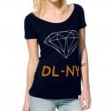 Camiseta Diamond Feminina Scoop NY - Azul/Laranja