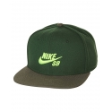 Boné Nike SB Icon - Preto/Verde Limão