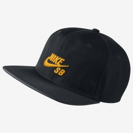 Boné Nike SB Icon Snapback - Preto/Amarelo