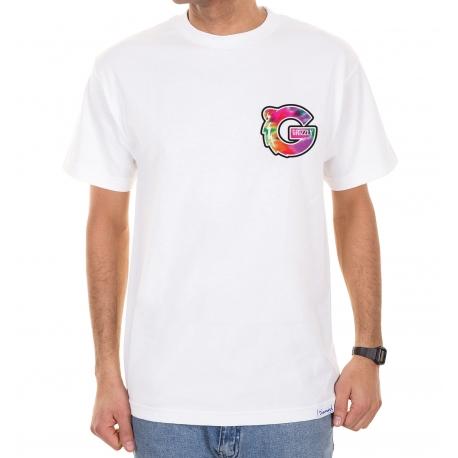 Camiseta Grizzly G Logo Tie Dye - Branco