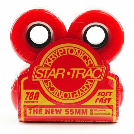 Roda Kriptonics Star Trac 78a 75mm - Vermelha