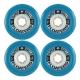 Roda Floaters SuperBalls 77mm 81a - Azul
