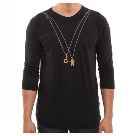 Camiseta 3/4 Grizzly 2 Chainz - Preto