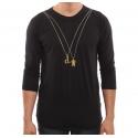 Camiseta 3/4 Grizzly x Diamond 2 Chainz - Preto