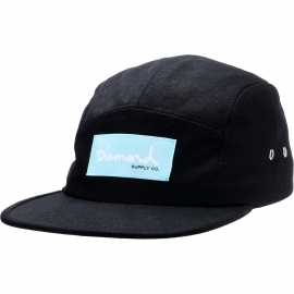 Boné Diamond 5 Panel OG Script - Preto