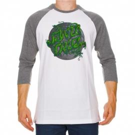 Camiseta Santa Cruz 3/4 Drain Dot - Branca