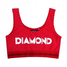 Top Diamond Feminino Deco Balette  - Vermelho