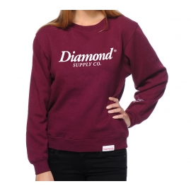 Moletom Feminino Diamond Careca Sample - Vinho